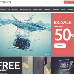 homepage de site pour vendre des produits electronique en dropshipping