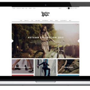 page d' accueil site e-commerce clé en main dropshipping prêt à porter