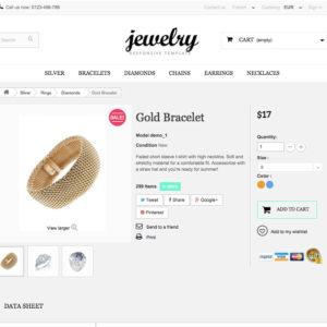 page produit site e-commerce bijoux en dropshipping
