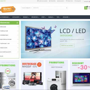 e-commerce avec dropshipping catalogue cdiscount