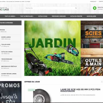 site e-commerce dropshipping bricolage jardinage