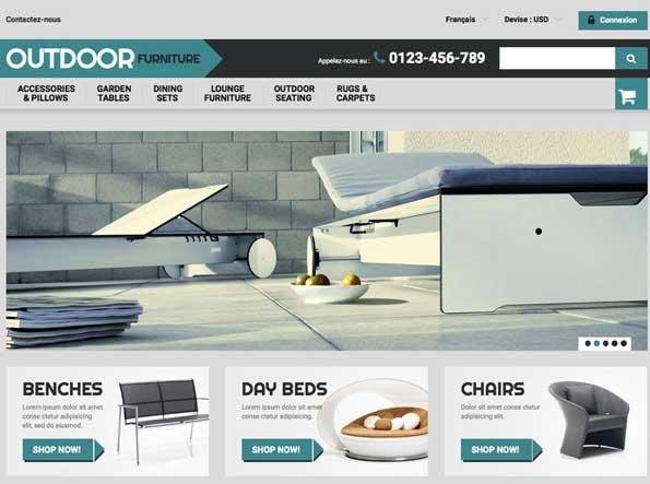 Home page théme site clé en main dropshipping de décoration