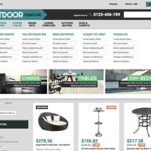 menu riche site marchand de décoration sans stock dropshipping