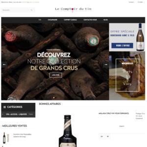 Site e-commerce (À VENDRE) en dropshipping vin caviste