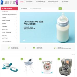 Site e-commerce en dropshipping (en vente) puériculture