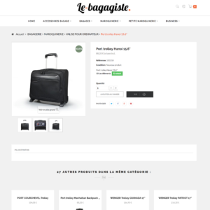 page produits e-commerce dropshipping maroquinerie et bagagerie