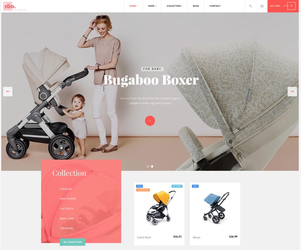 Thème 1 site e-commerce puériculture jouets