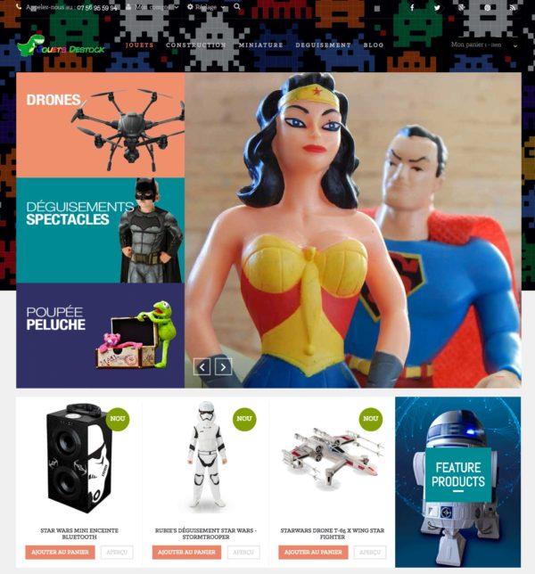 site e-commerce dropshipping jeux jouets