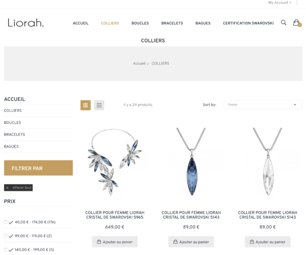 Site e-commerce dropshipping bijoux swarovski