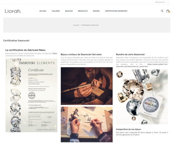 E-commerce dropshipping certifié swarovski