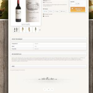 page produit vin et champagne en dropshipping