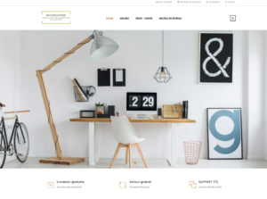 home site e-commerce dropshipping décoration