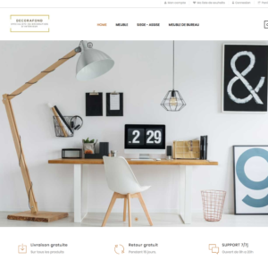 home site e-commerce dropshipping décoration
