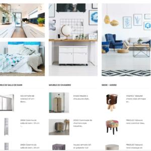 homepage site e-commerce dropshipping deco intérieur