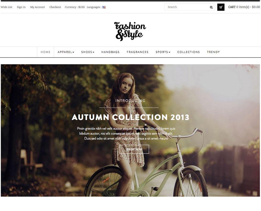 homepage site e-commerce en dropshipping pour vetement pret à porter