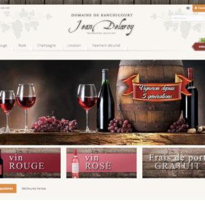 template e-commerce dropshipping vin et champagne