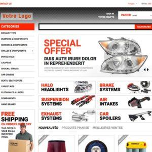 e-commerce clé en main moto dropshipping