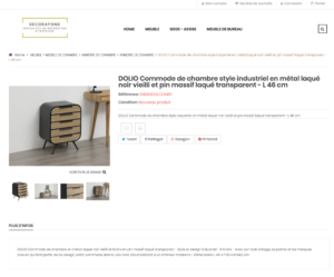 page produits site e-commerce dropshippign décoration linge