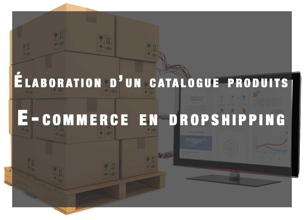 elaboration d'un catalogue produit e-commerce dropshipping
