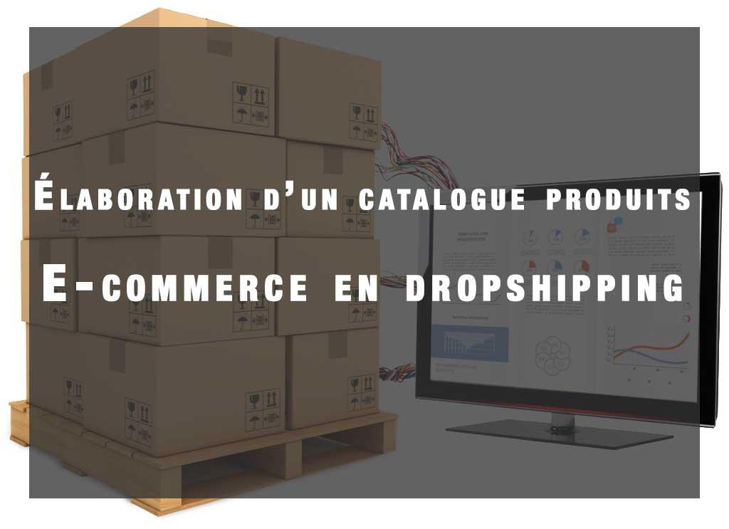 elaboration d'un catalogue produit e-commerce dropshipping