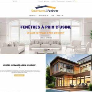 Ouvertures & Fenêtre – site e-commerce
