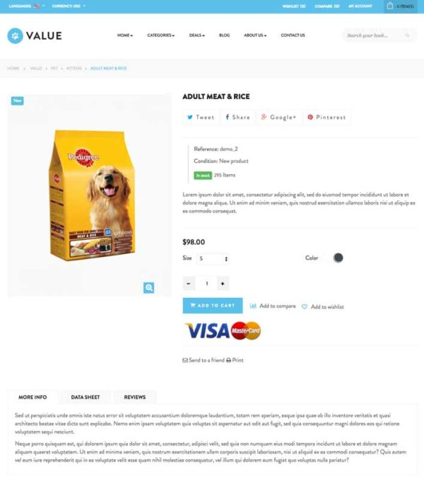 page produitssite e-commerce dropshipping animalerie