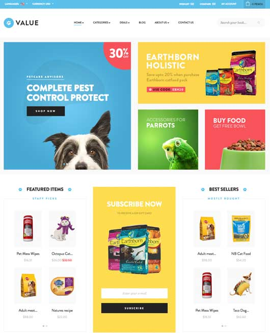 site e-commerce dropshipping animalerie