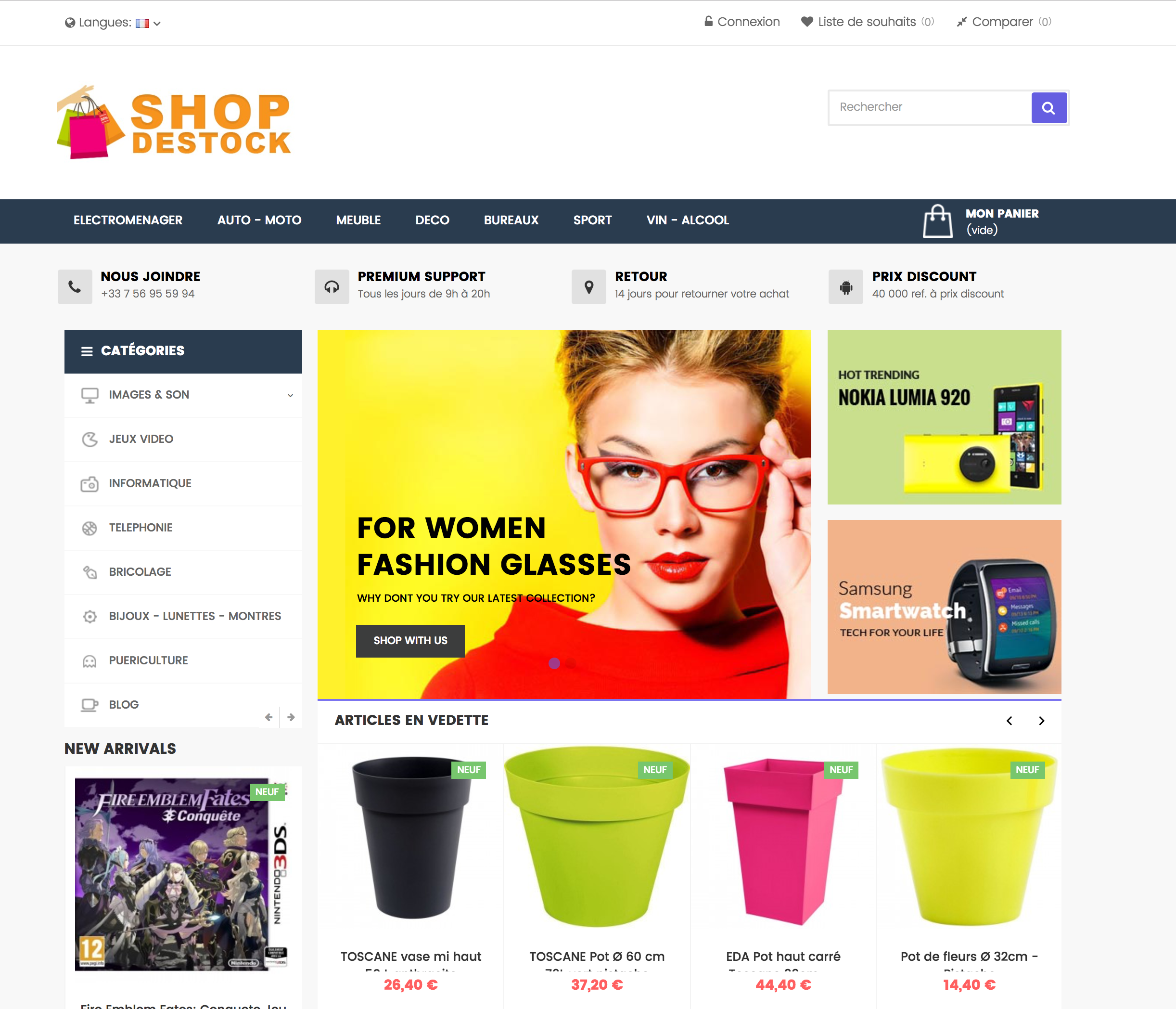 Shop-destock site e-commerce dropshipping cdiscountpro