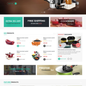 Site e-commerce cuisine art de la table dropshipping