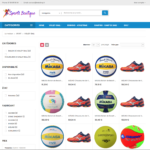 page catégories dropshipping e-commerce sport multisport