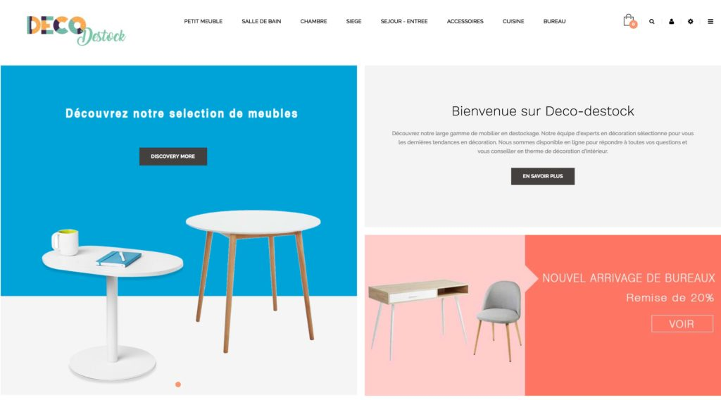 site e-commerce décoration home