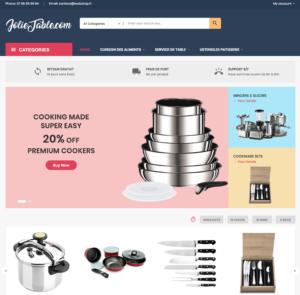site e-commerce dropshipping art de la table cuisine  à vendre