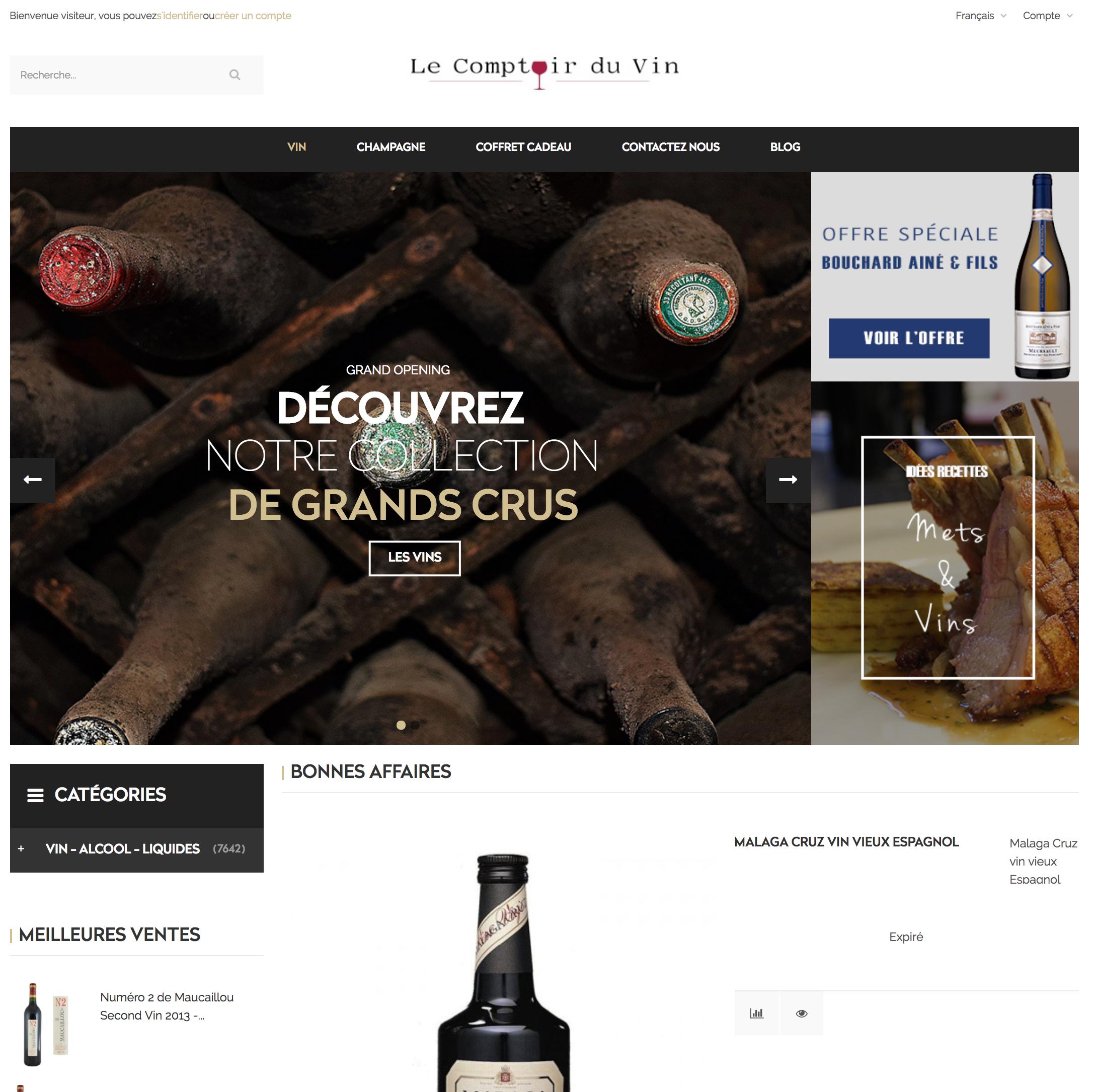 premier site e-commerce caviste en dropshipping.