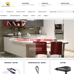 Site e-commerce (À VENDRE) en dropshipping électroménager / coiffure / cuisine