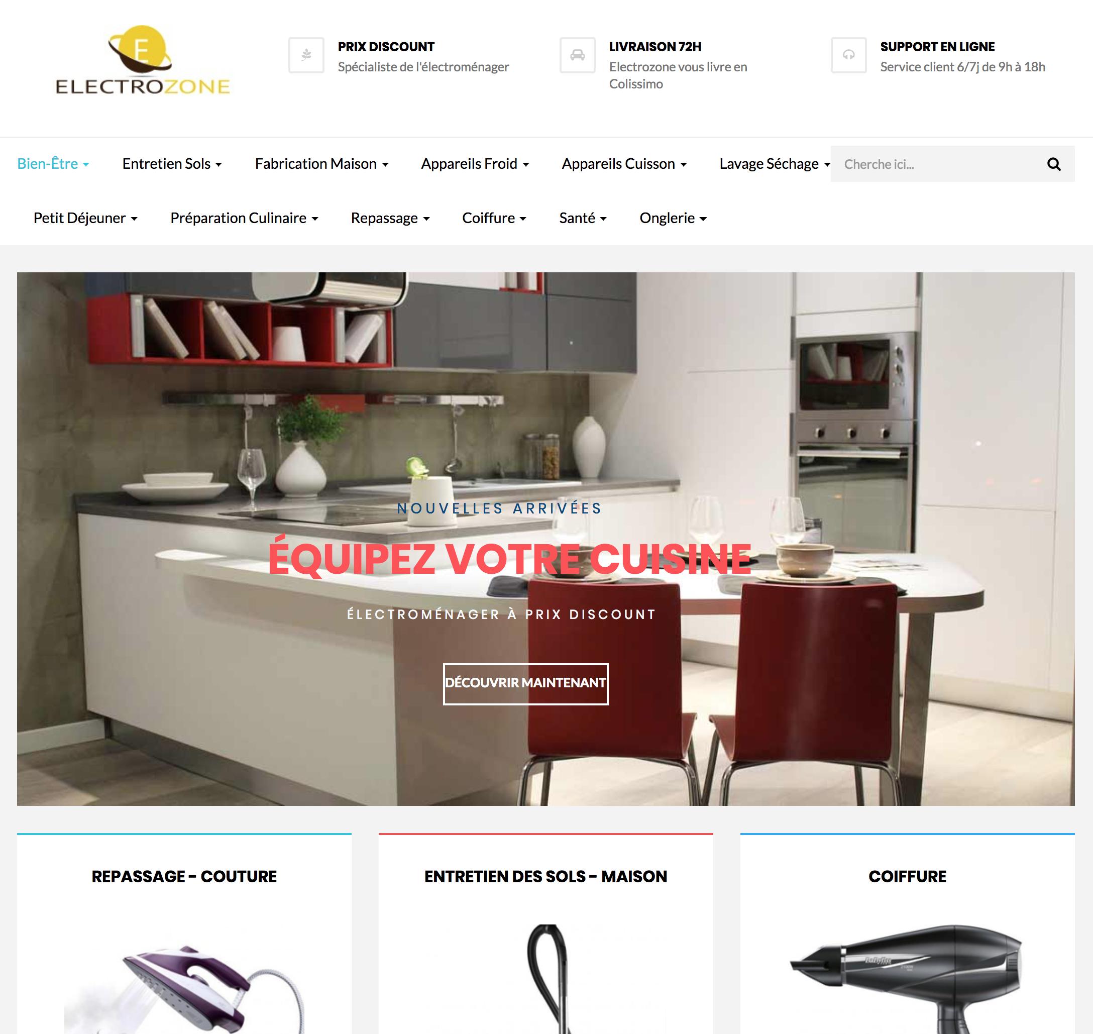 e-commerce dropshipping d'électroménager à vendre