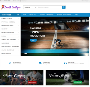 e-commerce dropshipping sport