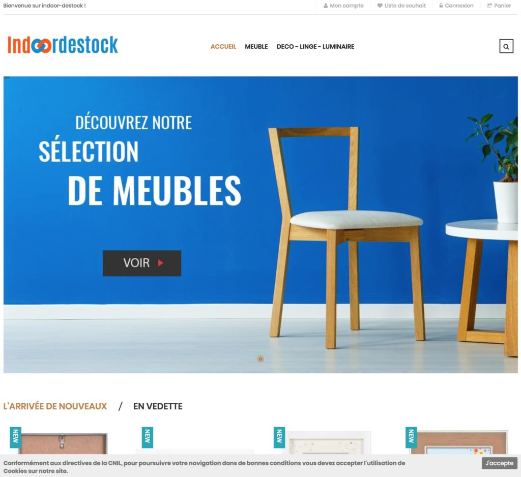 site e-commerce drophsipping décoration et meubles