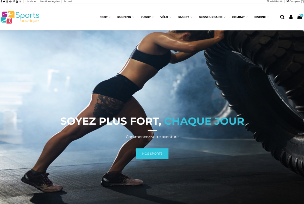 Site e-commerce sport dropshipping