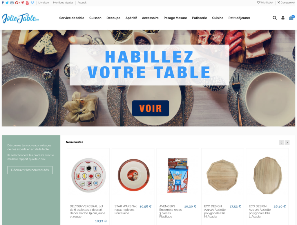 e-commerce dropshipping art de la table