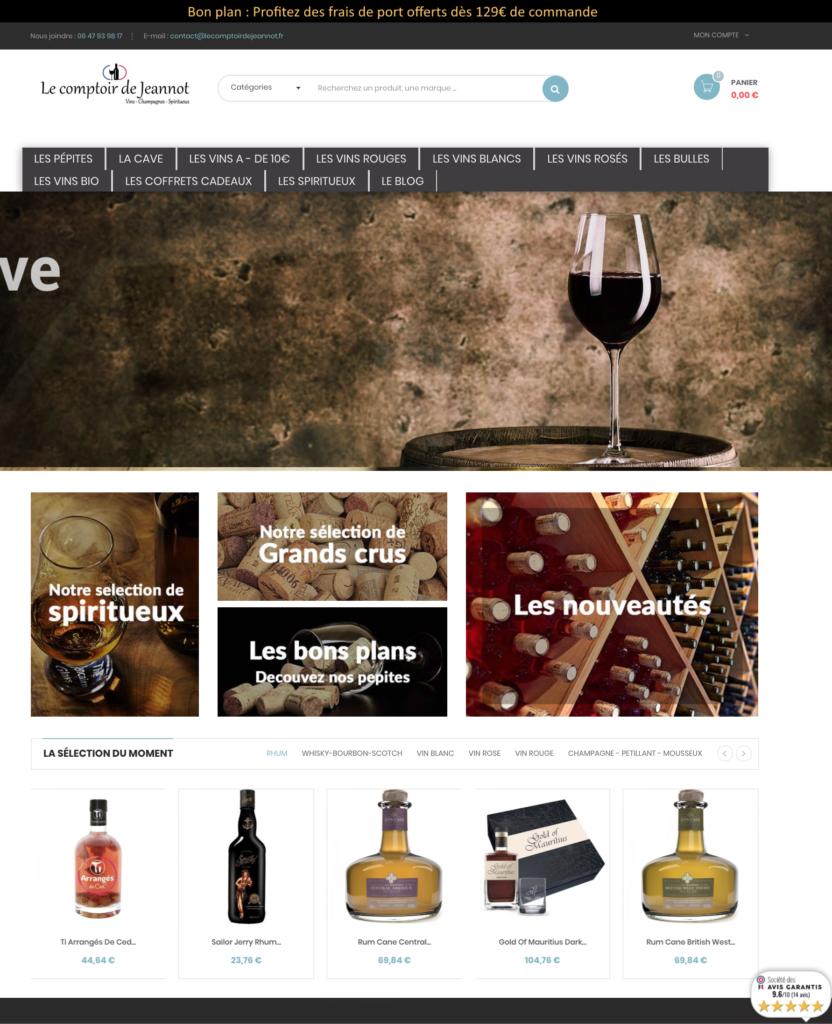 Site dropshipping vin spiritueux