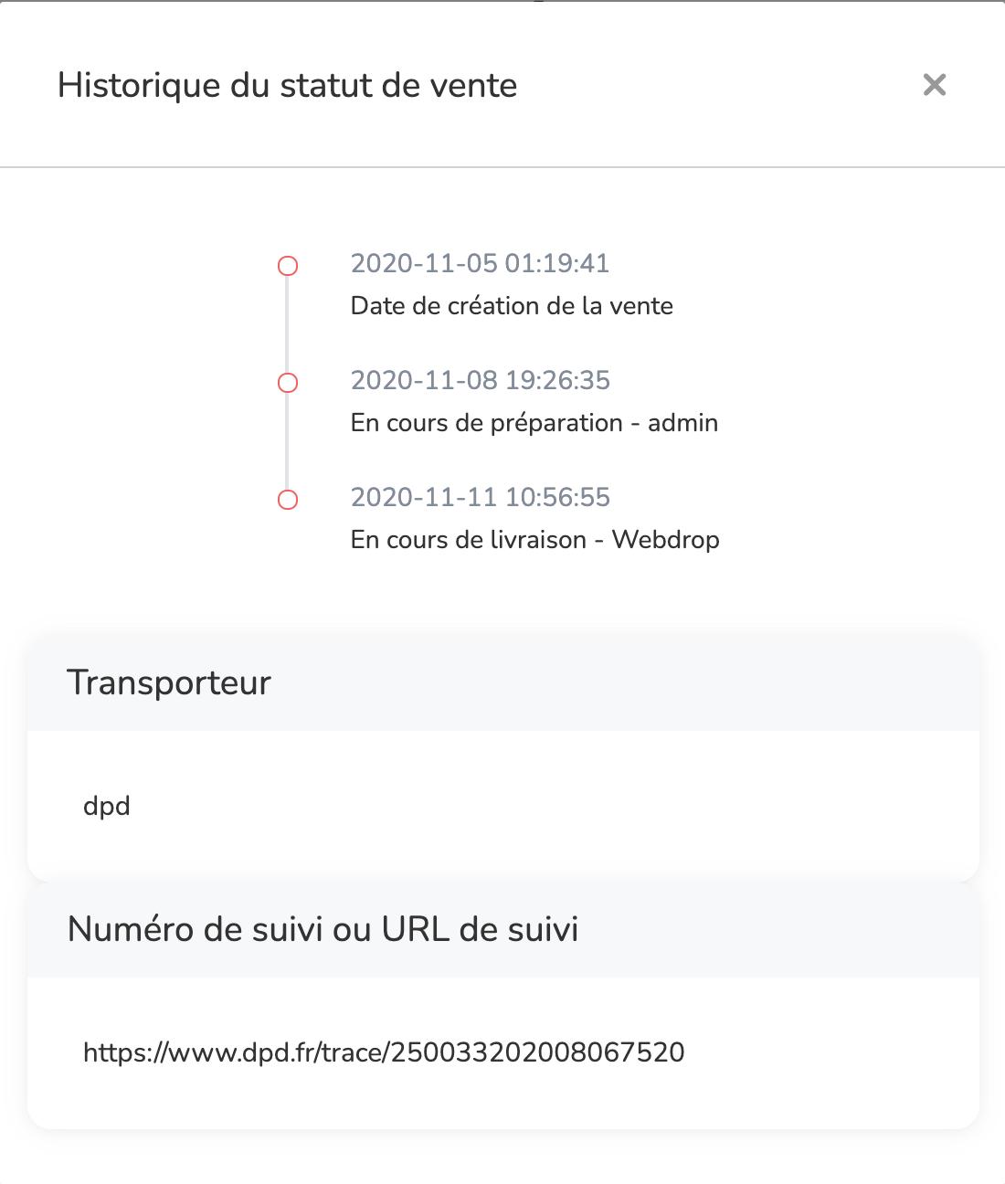 actualisation en temps réel commandes ebay dropshipping